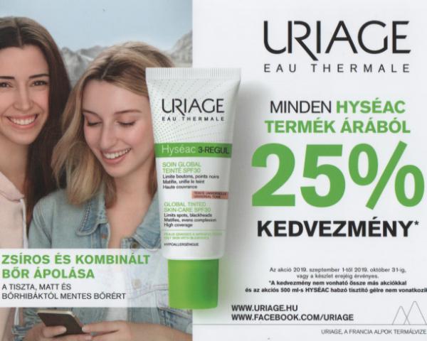 Uriage Hyseac 25%-os akció