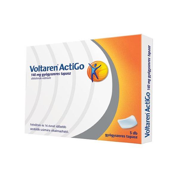 Voltaren ActiGo 140 mg gyógyszeres tapasz - 5x