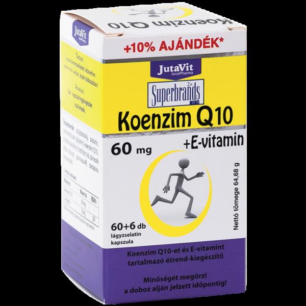 JutaVit Koenzim Q10 60 mg tabletta - 60x+6x