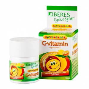 Béres Egészségtár C-vitamin rágótabletta gyerek - 30x