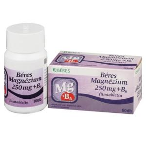 Béres Magnézium 250 mg+B6 filmtabletta - 90x