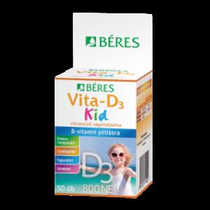 Béres Vita-D3  800 NE KID spec.tápsz. rágótabletta - 50x
