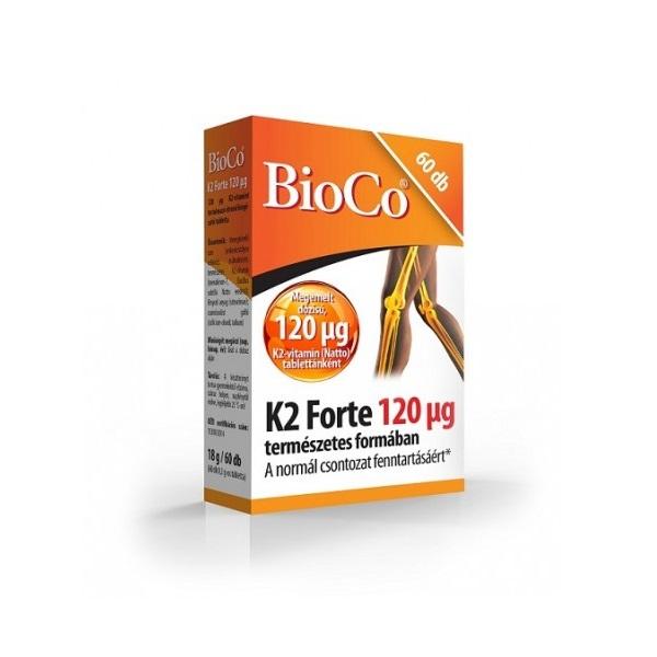 BioCo K2-vitamin Forte 120 mcg tabletta - 60x