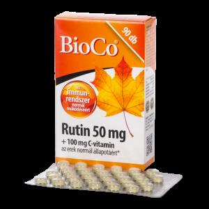 BioCo Rutin 50 mg + C-vitamin 100 mg tabletta - 90x