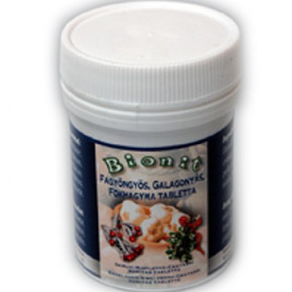 Bionit fokhagyma-galagonya-fagyöngy tabletta - 70x