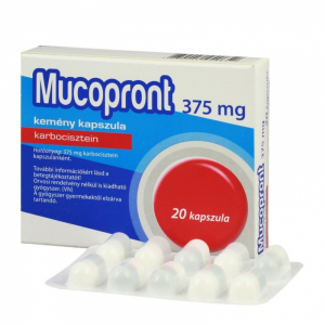 Mucopront 375 mg kemény kapszula - 20x