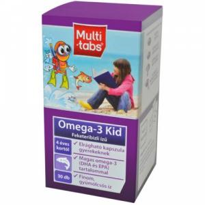 Multi-Tabs Kid Omega-3 rágókapsz.feketerib.új össz - 30x