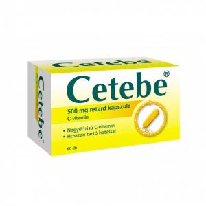 Cetebe 500 mg retard kemény kapszula - 60x blisz.