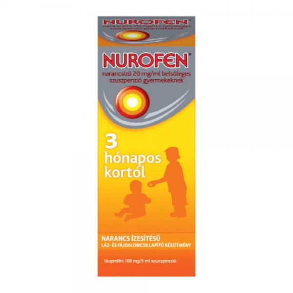 Nurofen  20mg/ml belsõl.szuszpenzió gyerm.narancs - 100ml