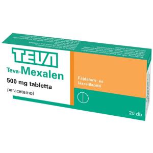 Teva-Mexalen  500 mg tabletta - 20x