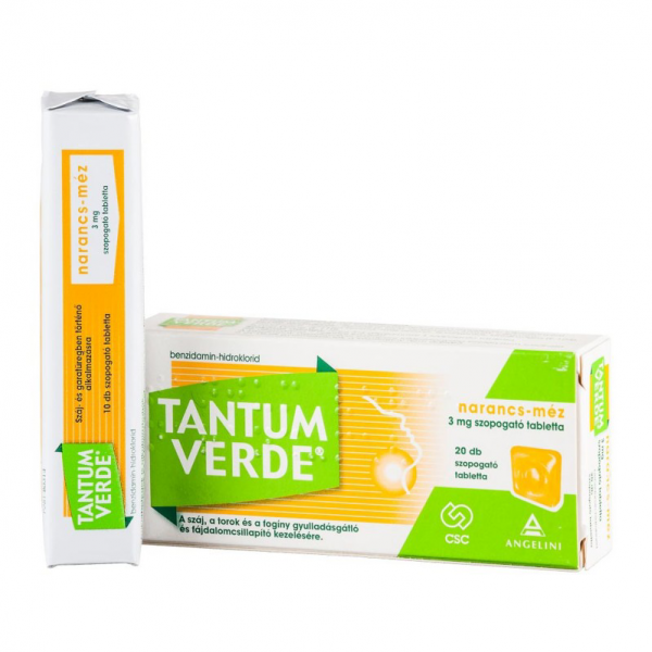 Tantum Verde narancs-méz 3 mg szopogató tabletta - 20x trilam