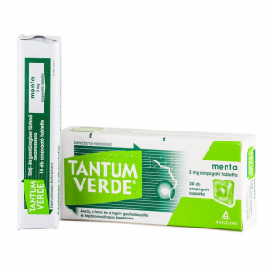 Tantum Verde menta 3 mg szopogató tabletta - 20x