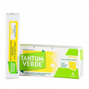 Tantum Verde citrom 3 mg szopogató tabletta - 20x