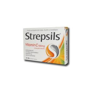 Strepsils Vitamin C 100 mg szopogató tabletta - 24x