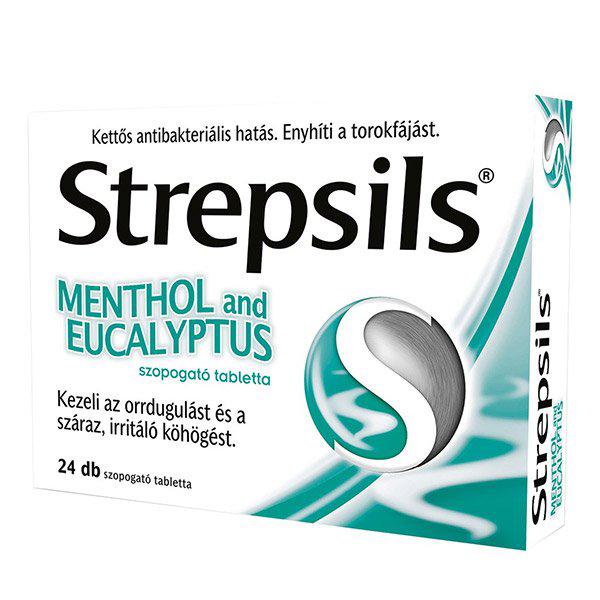 Strepsils Menthol and eucalyptus szopogató tabl. - 24x