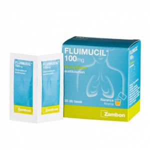 Fluimucil 100 mg granulátum - 30x1g