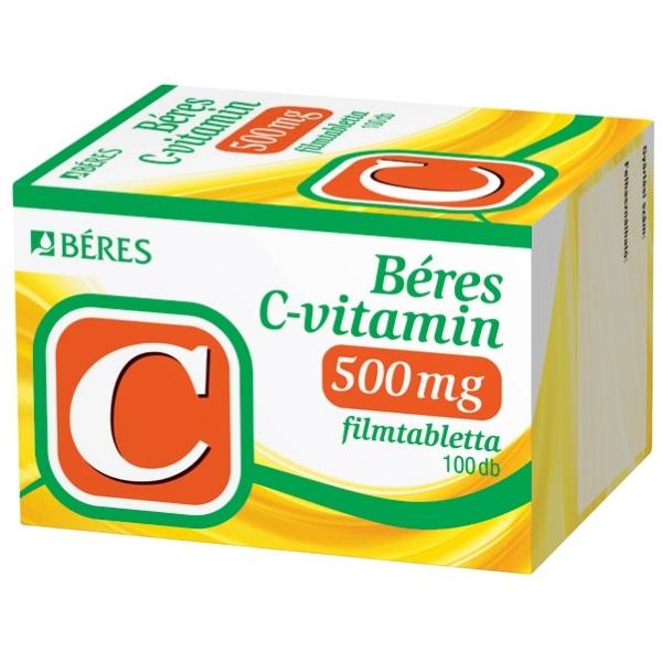 Béres C-vitamin  500 mg filmtabletta - 100x