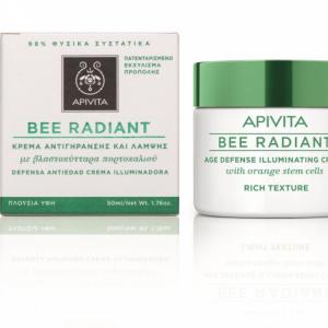 APIVITA BEE RADIANT Bőrfiatalító és ragyogást fokozó arckrém RICH 50ml