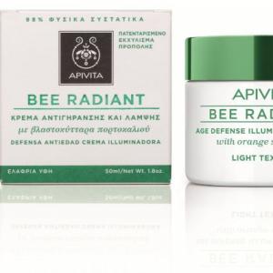 APIVITA BEE RADIANT Bőrfiatalító és ragyogást fokozó arckrém LIGHT 50ml
