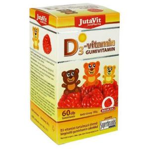 JutaVit D3-vitamin gumivitamin málna ízű