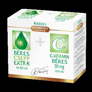 Béres Csepp Extra belsőleges csepp 4x+C- vitamin 120x