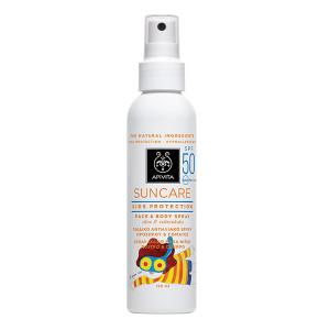 APIVITA SUNCare KID Spray aloe vera SPF50+kulacs