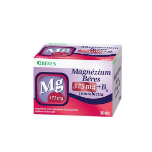 Béres Magnézium 375 mg+B6 filmtabletta 30x