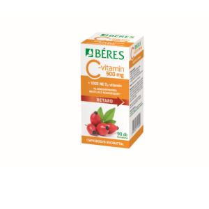 Béres C-vitamin 500 mg csipke D3 1000NE ret.ftabl. 90x