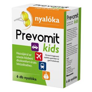 Prevomit Kids gyömbéres nyalóka gyermekeknek 6x