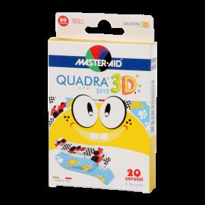 MASTER AID Quadra 3D sebtapasz boys 20x