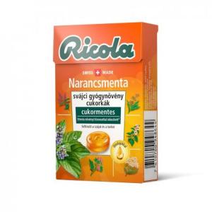 Ricola Orange Mint cukormentes cukorka 40gr
