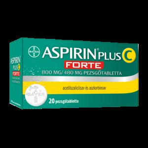 Aspirin Plus C Forte 800 mg/480 mg pezsgõtabletta 20x