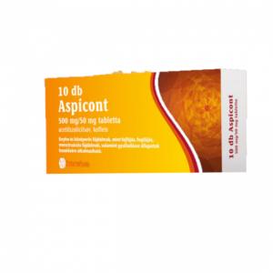 Aspicont 500 mg/50 mg tabletta 10x