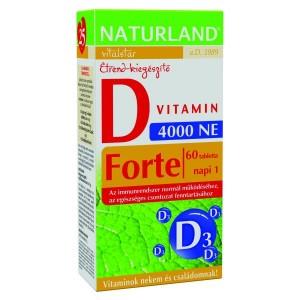 Naturland D-vitamin forte tabletta 60x