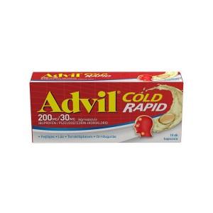 Advil Cold rapid 200 mg/30 mg lágy kapszula 10x