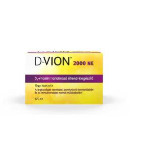 D-Vion D3 vitamin 2000NE kapszula 120x