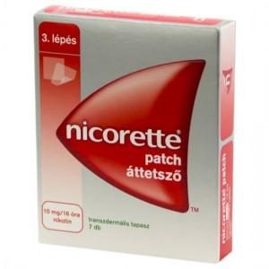 Nicorette patch áttetszõ 10 mg/16 óra transz.tap. 7x