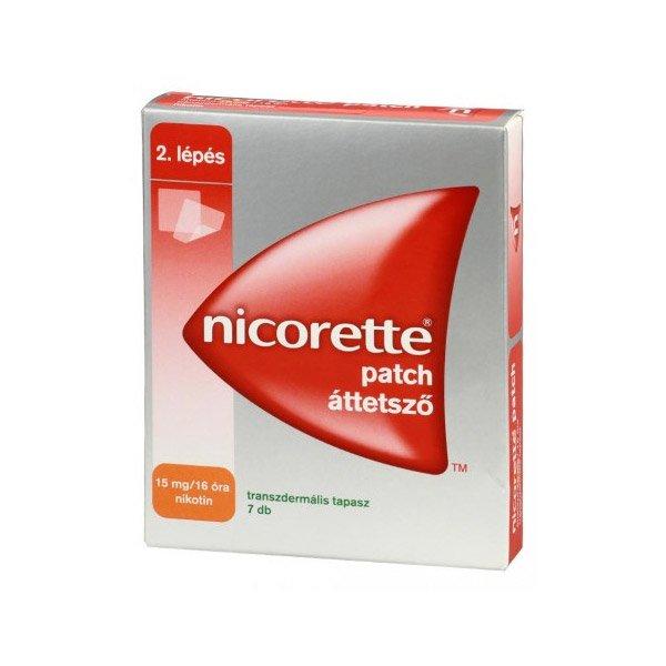 Nicorette patch áttetszõ 15 mg/16 óra transz.tap. 7x