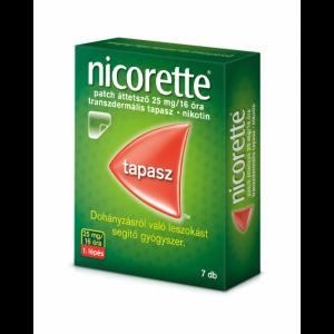 Nicorette patch áttetszõ 25 mg/16 óra transz.tap. 7x