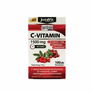 JutaVit C-vitamin 1500 mg+ Zn+csipkeb.+acerola+D3 tabl. 100x