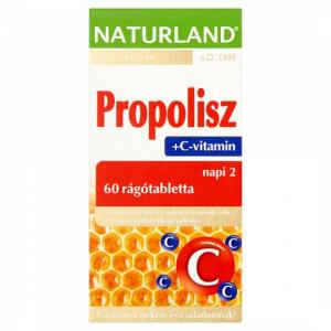 Naturland Propolisz+C-vitamin rágótabletta 60x