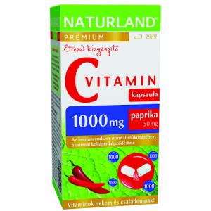 Naturland Prémium C-vit 1000mg+paprika kapsz 40x
