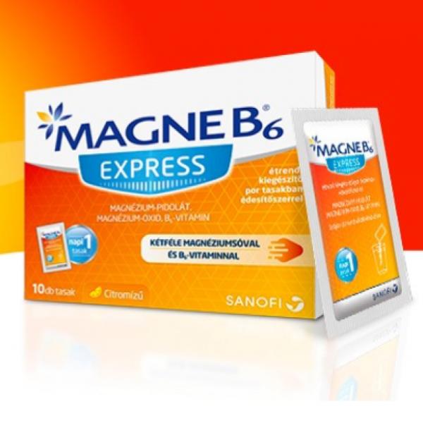 Magne B6 Express étr.kieg. por édesítőszerrel 10db