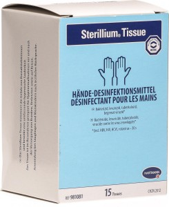 Sterillium kézfertőtlenítő kendő 15x