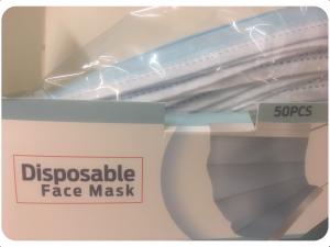 Egyszerhasználatos 3 rétegű szájmaszk 1db minimum rendelés 10db