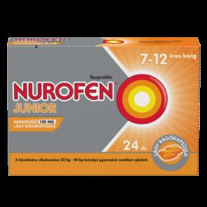 Nurofen junior narancsízû 100 mg lágy rágókapszula 24x