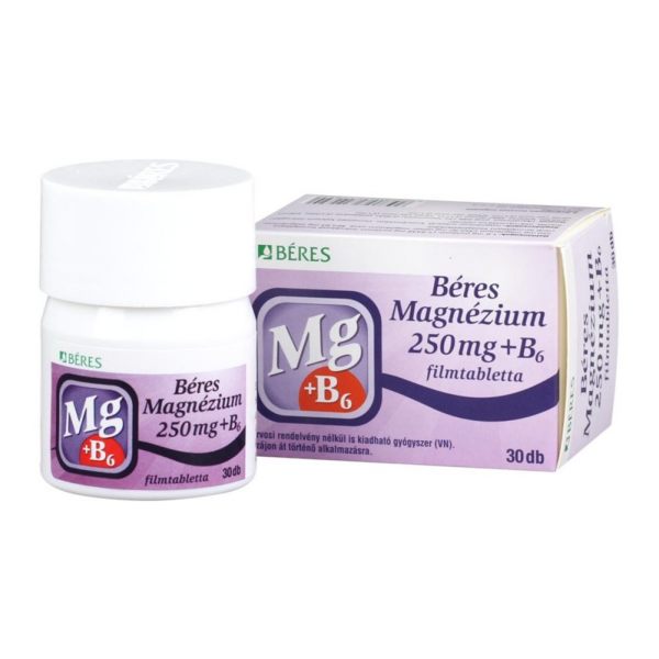 Béres Magnézium 250 mg+B6 filmtabletta 30x