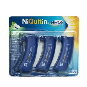NiQuitin Minitab 4 mg préselt szopogató tabletta 3x20 mûa.