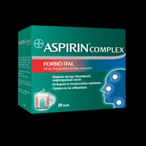 Aspirin Komplex forró ital 500 mg/30 mg gran. 20x